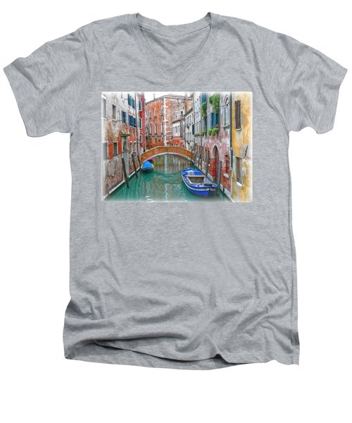 Men's V-Neck T-Shirt featuring the photograph Venetian Idyll by Hanny Heim