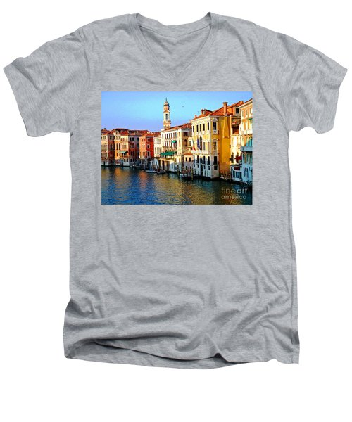 Venezia Grand Canal Men's V-Neck T-Shirt