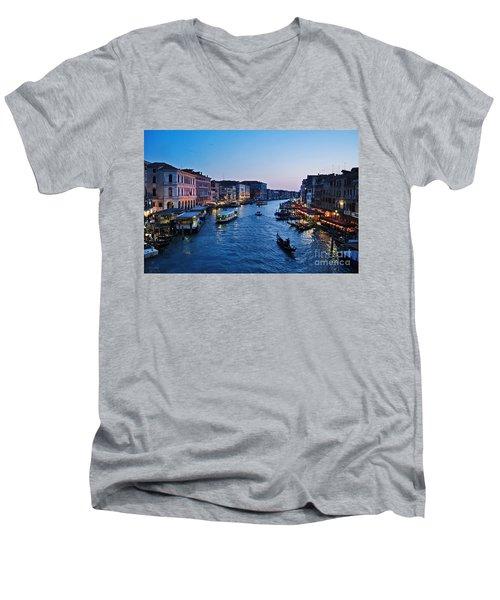Venezia - Il Gran Canale Men's V-Neck T-Shirt