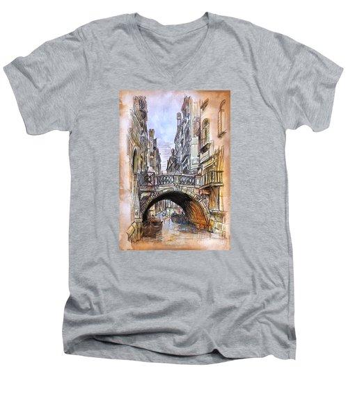 Venice 2 Men's V-Neck T-Shirt by Andrzej Szczerski