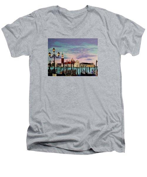 Venice  Italy By Jasna Gopic Men's V-Neck T-Shirt