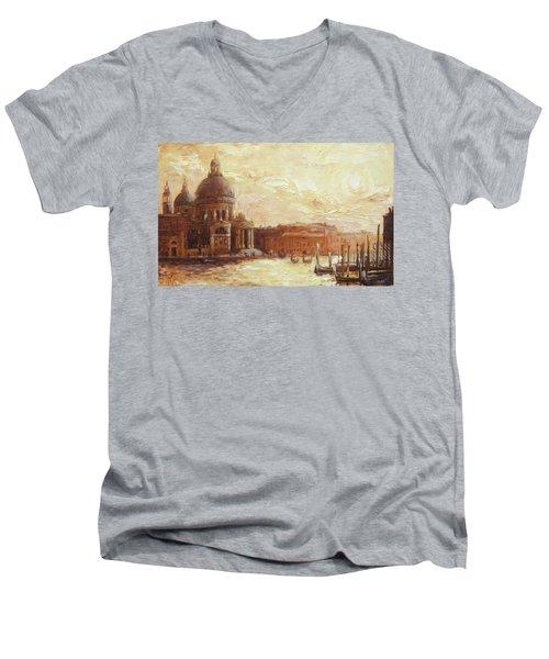 Venice - Santa Maria Della Salute Men's V-Neck T-Shirt by Irek Szelag