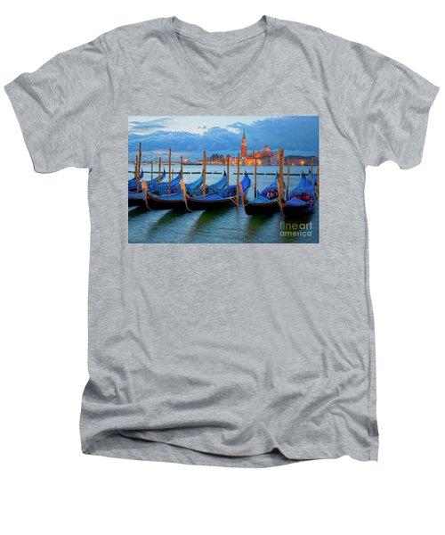 Venice View To San Giorgio Maggiore Men's V-Neck T-Shirt
