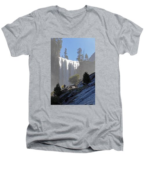 Vernal Falls Mist Trail Men's V-Neck T-Shirt by Duncan Selby