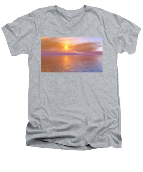 Men's V-Neck T-Shirt featuring the digital art Verona Beach by Mark Greenberg