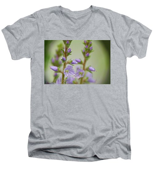 Men's V-Neck T-Shirt featuring the photograph Veronica's Tears by Peggy Collins