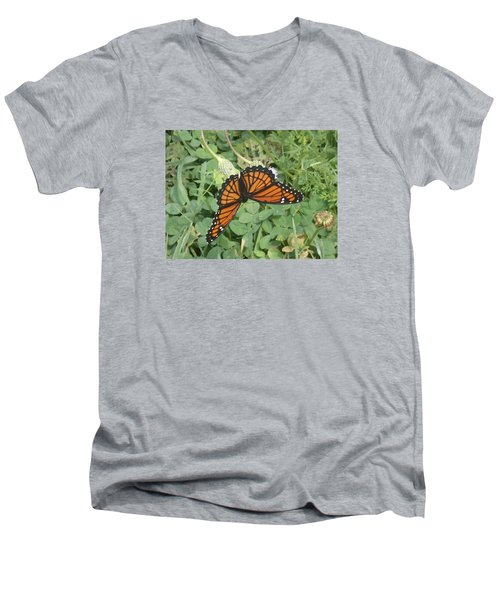 Men's V-Neck T-Shirt featuring the photograph Viceroy by Robert Nickologianis
