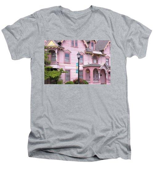 Victorian Pink House - Milford Delaware Men's V-Neck T-Shirt