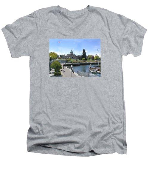 Victoria's Parliament Buildings Men's V-Neck T-Shirt