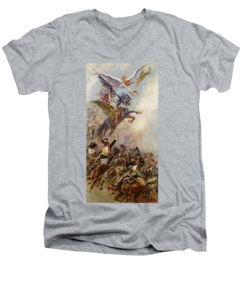 Victory Men's V-Neck T-Shirt by Jean-Baptiste Edouard Detaille