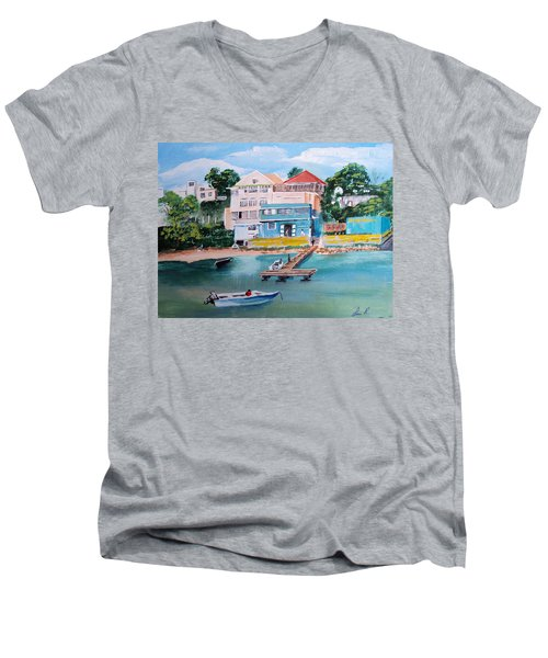 Vieques Puerto Rico Men's V-Neck T-Shirt