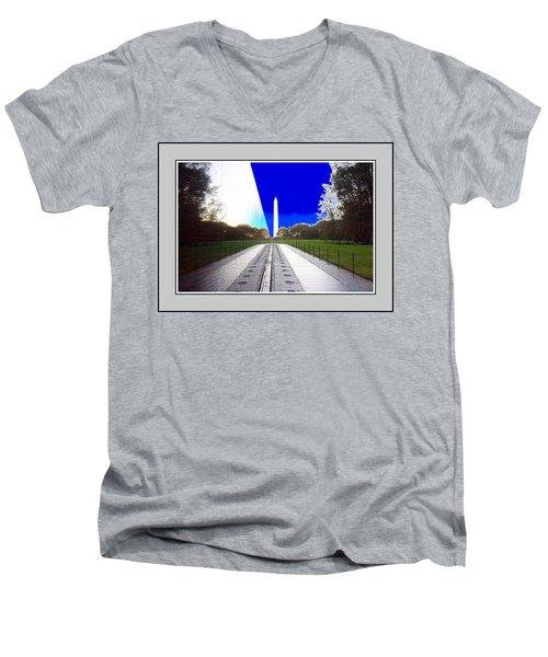 Viet Nam Memorial And Obelisk Men's V-Neck T-Shirt