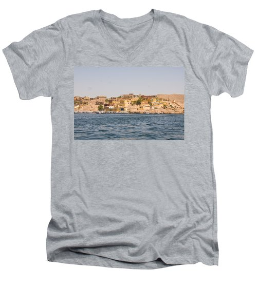 View From Boat Men's V-Neck T-Shirt