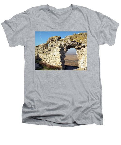 View From Enisala Fortress 2 Men's V-Neck T-Shirt