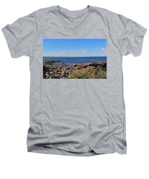 View From Marginal Way Ogunquit Maine 3 Men's V-Neck T-Shirt