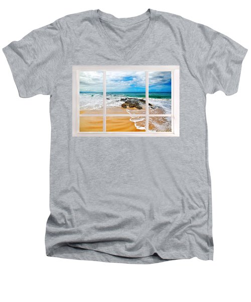 View From My Beach House Window Men's V-Neck T-Shirt