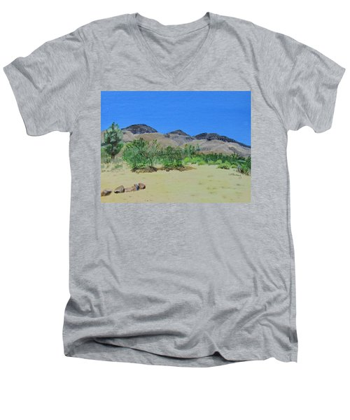 View From Sharon's House - Mojave Men's V-Neck T-Shirt