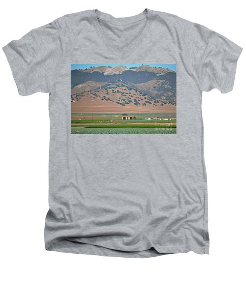 Men's V-Neck T-Shirt featuring the photograph View From The Crops by Susan Wiedmann
