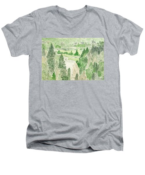 View From The Dam Men's V-Neck T-Shirt