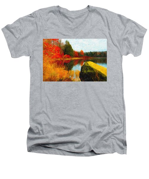 View From The Rock Men's V-Neck T-Shirt
