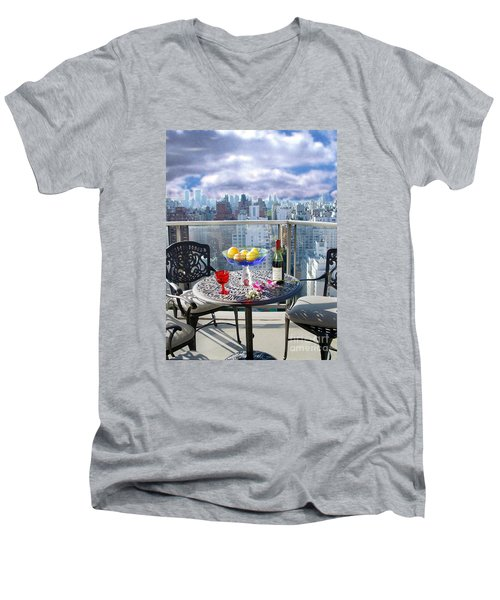 View From The Terrace Men's V-Neck T-Shirt by Madeline Ellis