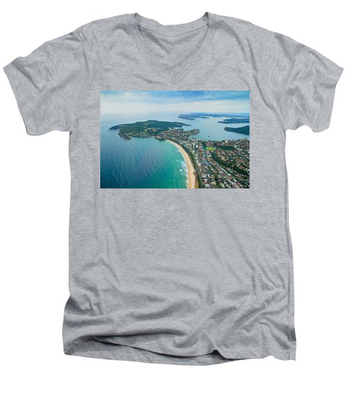 View Men's V-Neck T-Shirt by Miroslava Jurcik