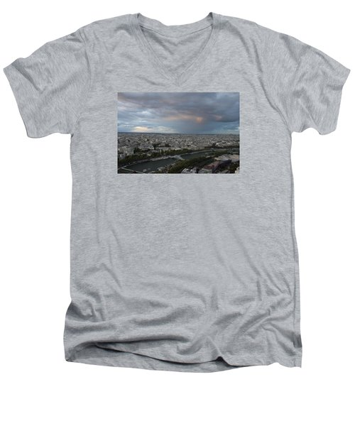 View Of Paris Men's V-Neck T-Shirt by Ivete Basso Photography