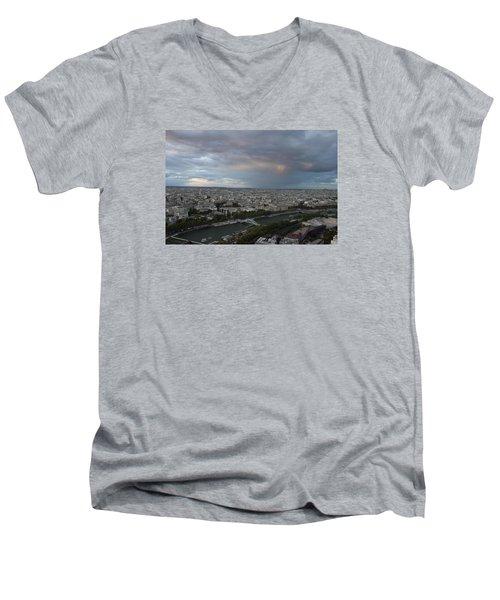 View Of Paris Men's V-Neck T-Shirt