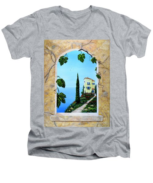 Villa By The Sea Men's V-Neck T-Shirt