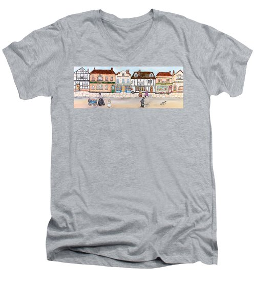 Villaggio Antico Men's V-Neck T-Shirt by Loredana Messina