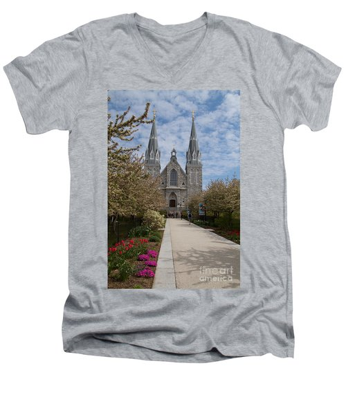 Villanova University Main Chapel  Men's V-Neck T-Shirt by William Norton