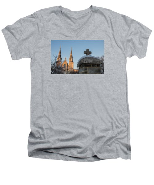 Villanova Wall And Chapel Men's V-Neck T-Shirt