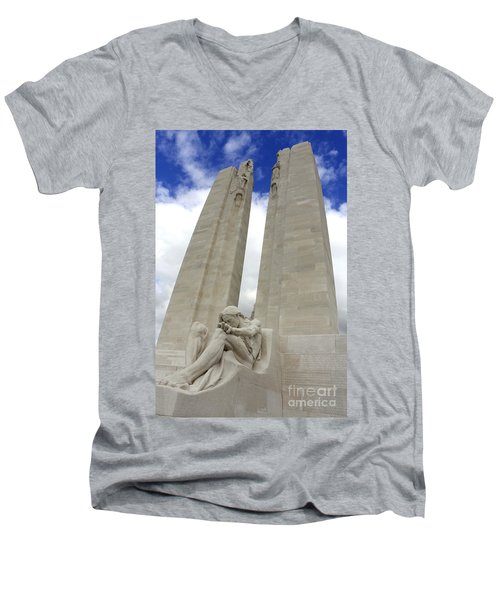 Vimy Ridge Memorial France Men's V-Neck T-Shirt