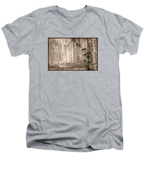 Vine And Fence Men's V-Neck T-Shirt by Amanda Vouglas