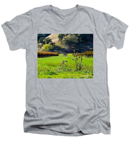 Vineyard Thistles Men's V-Neck T-Shirt