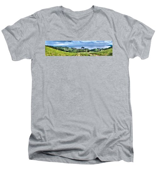 Vineyards By The Sea Men's V-Neck T-Shirt