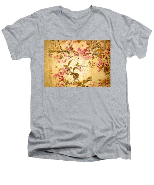 Vintage Blossom Men's V-Neck T-Shirt