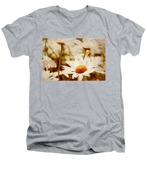 Vintage Daisy Men's V-Neck T-Shirt