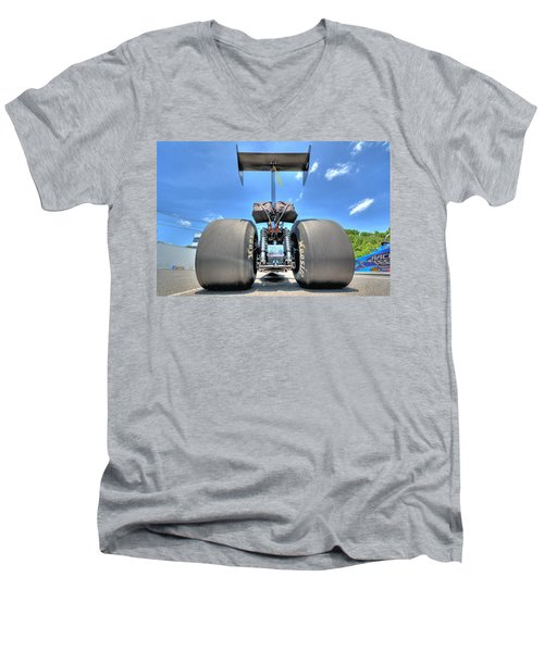 Men's V-Neck T-Shirt featuring the photograph Vintage Drag Racer by Gianfranco Weiss
