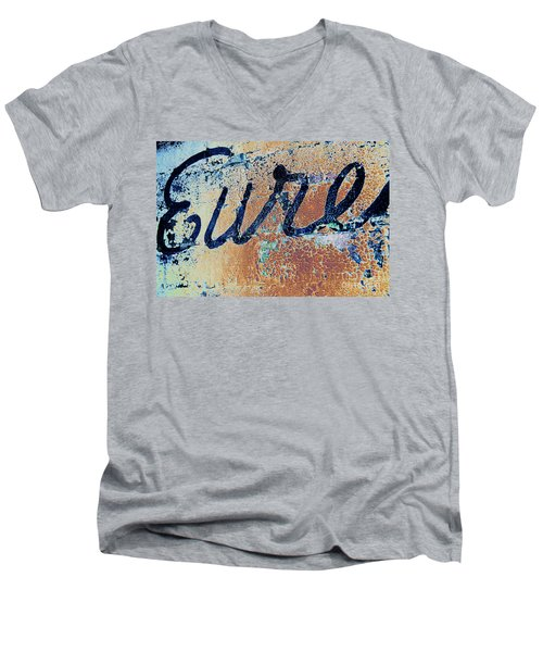 Men's V-Neck T-Shirt featuring the photograph Vintage Eureka by Steven Bateson