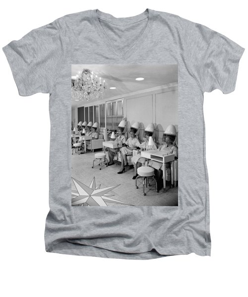 Vintage Hair Salon 2 Men's V-Neck T-Shirt