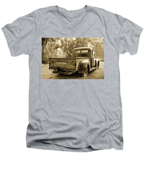 Men's V-Neck T-Shirt featuring the photograph Vintage International by Steven Bateson