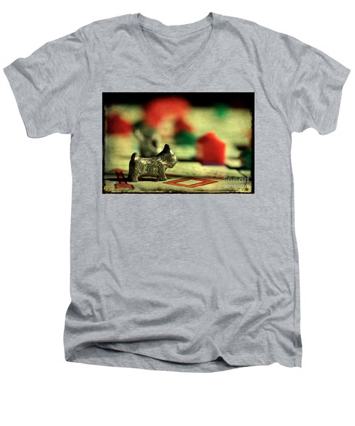Vintage Monopoly Men's V-Neck T-Shirt by Michael Eingle