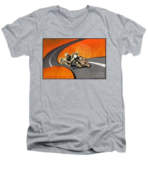 Vintage Motor Racing  Men's V-Neck T-Shirt