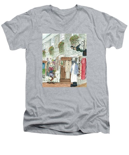 Vintage New Hope Men's V-Neck T-Shirt