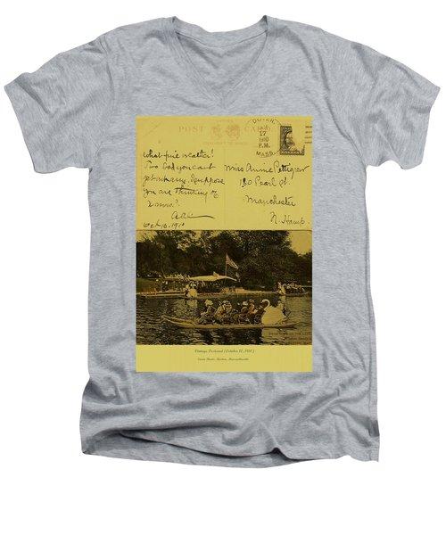 Vintage Postcard  October 10 1910 Men's V-Neck T-Shirt