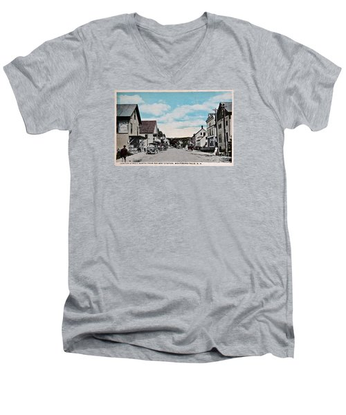 Vintage Postcard Of Wolfeboro New Hampshire Art Prints Men's V-Neck T-Shirt