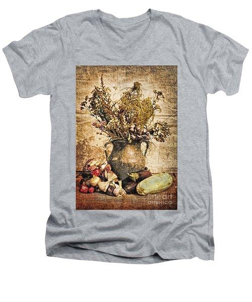 Vintage Still Life - Antique Grunge Men's V-Neck T-Shirt