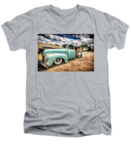 Vintage Truck  Men's V-Neck T-Shirt