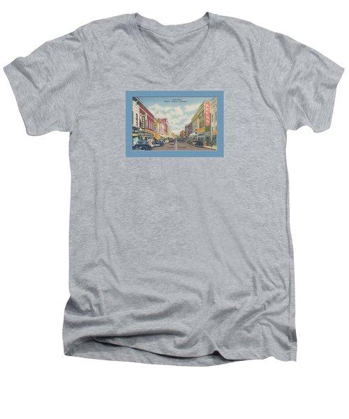 Vintage Va Tn Postcard Kress  Men's V-Neck T-Shirt
